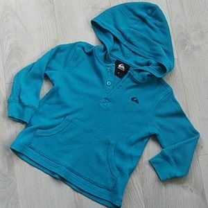 Quicksilver Waffle Hooded Pullover